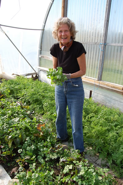 Local food grower Julie Yeaman of Spirit Matters Centre